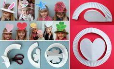 Sombreros con platos desechables