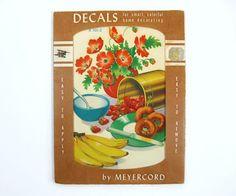 Vintage Meyercord Decal in Original Unopened Package