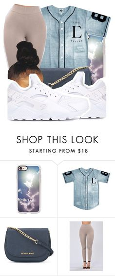 """Untitled #117"" by swavenation-n-trapsoul ❤ liked on Polyvore featuring Casetify, MICHAEL Michael Kors and NIKE"
