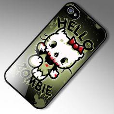 iPhone 4 case Hello Zombie Hello Kitty Parody by Nifteez on Etsy, $19.95