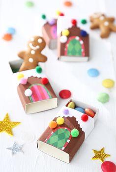 Mini-Lebkuchenhaus aus Streichholzschachtel #weihnachten #gingerbread