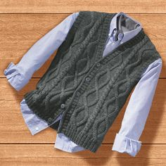 ru / Foto # 120 - maglieria - machabat - Knitting patterns, knitting designs, knitting for beginners. Baby Cardigan, Sweater Jacket, Baby Knitting Patterns, Knitting Designs, Knit Vest Pattern, Matching Sweaters, Knit Baby Sweaters, Knitting Socks, Kind Mode