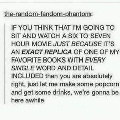 The people who make the movies don't seem to think that this is what we've wanted all along: a perfectly accurate movie! I mean, what even was going through the writers heads when making the Percy Jackson movies? Did the even read the books? Book Of Life, The Book, I Love Books, Books To Read, Otp, Maxon Schreave, Book Memes, Funny Book Quotes, Quotes For Book Lovers
