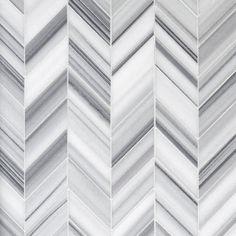 Accent Tile: Skyfall Chevron Marble Mosaic - x - 100248483 Pebble Mosaic, Mosaic Glass, Mosaic Tiles, Decorative Tile Backsplash, Ceramic Wall Tiles, Kitchen Backsplash, Vanity Backsplash, Backsplash Ideas, Skyfall