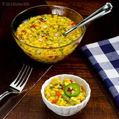 Jalapeño adds zip to this tangy side dish Have a hankering for some old-fashioned corn relish? But forgot to preserve any fresh corn . Summer Corn Salad, Summer Salads, Fried Vegetables, Fruits And Veggies, Best Salads Ever, Corn Relish, Corn Recipes, Best Breakfast, Holiday Recipes