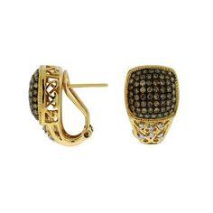 White Diamond & Brown Diamond Earring