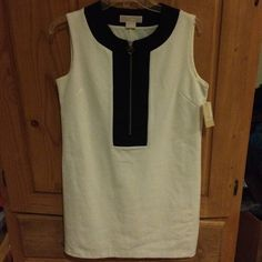 Michael Kors dress Black and cream dress with silver zipper and MK tag. NWT MICHAEL Michael Kors Dresses