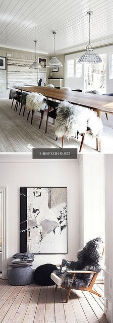 sheep skin rugs by the style files, via Flickr