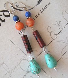 Dangling Influences - No1 / Agate, Mahogany Obsidian, Lapis, Turquoise