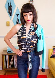 Cute sewing themed top by Flippsville Originals on the blog...
