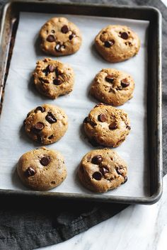 Outrageously chewy chocolate chip protein cookies that are the perfect treat or snack when you have a craving! 110 calories and nearly 5g protein per cookie!