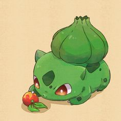 Cute Pokemon Aww Bulba with a berry I love berries