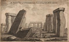 An Inward View of Stonehenge from behind the High Altar Old Photographs, Stonehenge, Altar, Salisbury, Eccentric, Secretary, Drawings, Watercolors, Prints