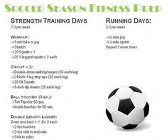I was at my healthiest when I played soccer in high school--Soccer workout Discover a great training to improve your soccer skills. This helped me and also helped me coach others to be better soccer players Soccer Player Workout, Soccer Drills, Soccer Coaching, Soccer Tips, Soccer Games, Play Soccer, Football Soccer, Workouts For Soccer Players, Soccer Stuff