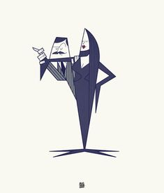 """""""That's Amore!"""" is a recent illustrations series made by Italian artist Ale Giorgini who has decided to draw the most famous pop-culture couples."""
