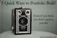 5 Quick Ways to Portfolio Build (Even if you think you don't need it, you do!)  #photography..... and legal forms for photographers link.