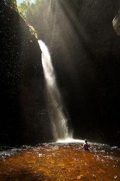 Valle de Kamarata,  a los pies del macizo del Auyán-Tepui, en el Parque Nacional Canaima, Venezuela