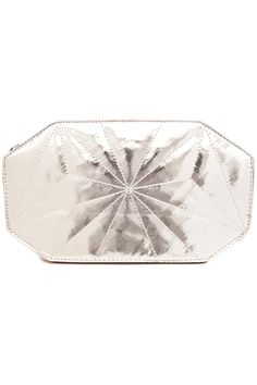 Domino Dollhouse - Plus Size Clothing: Geo Clutch in Silver