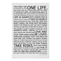 Life Manifesto Poster http://www.zazzle.com/life_manifesto_poster-228831076255392615?rf=238312613581490875