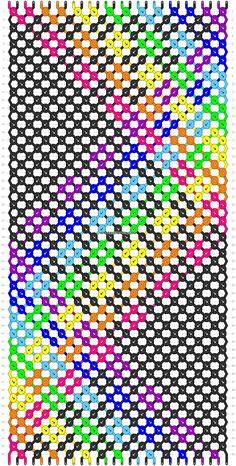 Rainbow Friendship Bracelet Pattern Number 12982 - For more patterns and tutoria. Rainbow Friendship Bracelet Pattern Number 12982 - For more patterns and tutorials visit our web or the app! Bracelet Fil, Bead Loom Bracelets, Bracelet Crafts, Macrame Bracelets, Making Friendship Bracelets, Diy Friendship Bracelets Patterns, Alpha Patterns, Loom Patterns, Diy Schmuck