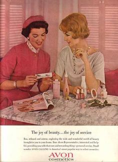 Avon (1962) - Love this!  We had an Avon lady that would come to the house and spend hours selling product to my Gram.