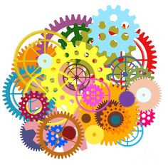 Gears Wheels Design Painting by Setsiri Silapasuwanchai - Gears ...