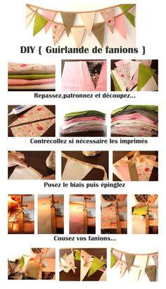 DIY {3} Une guirlande de fanions facile | The Perfect Day by Janine