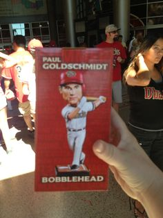 The Paul Goldscmidt, Goldy, Bobble Head!  Managed to secure him pretty easily!  😎