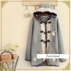 Buy 'Fairyland – Floral Trim Toggle Quilted Hooded Jacket' with Free International Shipping at YesStyle.com. Browse and shop for thousands of Asian fashion items from China and more!