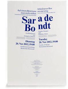 Brighten The Corners for University of Darmstadt - type 3 bilingual poster