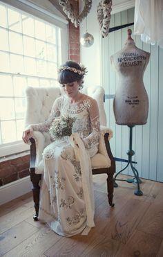 Image by Rosie Kelly Photography - Needle & Thread Wedding Dress | The West Mill Wedding Venue Derby | Rosie Kelly…
