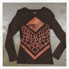 Custom #wearableart #handmade #bleachedapparel #fashion #longsleeves #pattern #bleacheddesign