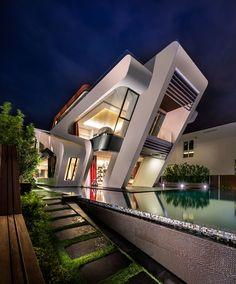 Casa con diseño contemporáneo en Singapur. #Arquitectura vía @ArdecoCR