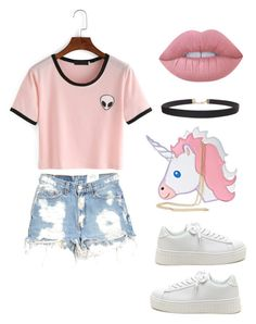 """pinky"" by alya-rayhani ❤ liked on Polyvore featuring Furst of a Kind, Lime Crime, Humble Chic, StreetStyle, outfit and ootd"