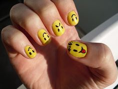 smiley nails