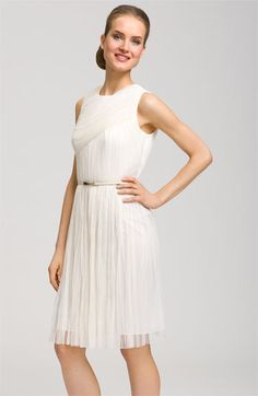 Adrianna Papell Pleat Dress