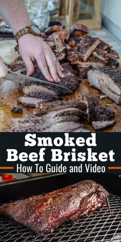 Best Beef Recipes, Beef Brisket Recipes, Smoked Beef Brisket, Smoked Meat Recipes, Grilling Recipes, Brisket Meat, Brisket Rub, Traeger Recipes, Spinach Recipes