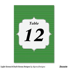 Find your Dark Green table numbers on Zazzle. Number Fonts, Green Table, Table Numbers, Green Stripes, Finding Yourself, Card Holder, How To Get, Education, Dark