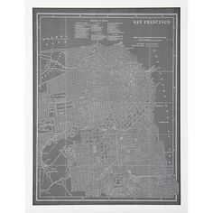 Create a map print using parcel data - Denver or San Diego. Grey & white with a white frame.