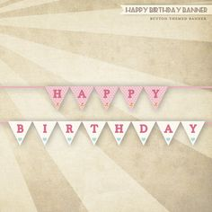 PRINTABLE Happy Birthday Banner (Pink)