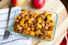 Maple Roasted Apples and Butternut Squash from Fo' Reals Life
