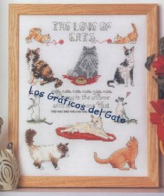 Needle-Works Butterfly: Cats And Kittens Cross Stitch Patterns.numerous charts on site Diy Embroidery, Cross Stitch Embroidery, Cross Stitch Charts, Cross Stitch Patterns, Cat Quilt, Cross Stitch Animals, Cross Stitching, Decoupage, Cats And Kittens