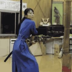 #Martialarts sword play. love her little happy dance at the end!