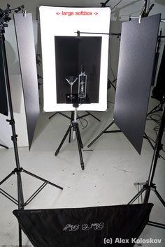 Alternative product Lighting setup-product photography tutorial glass on black