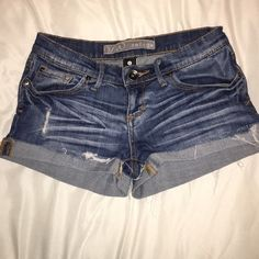 Denim shorts Gently worn but still in great condition! Charlotte Russe Shorts Jean Shorts