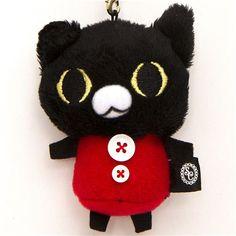 Sentimental Circus black cat plush cellphone charm