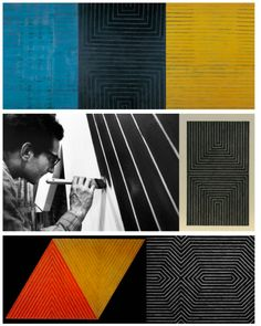 This makes my heart skip a beat. Op Art, Artist At Work, Art For Art Sake, Abstract Painting, Post Painterly Abstraction, Frank Stella Art, Art Inspiration, Frank Stella, Contemporary Art