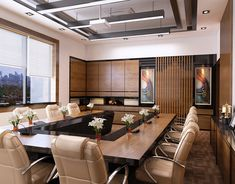 Meeting Room Design on Behance Corporate Office Design, Office Space Design, Modern Office Design, Office Interior Design, Office Interiors, Design Loft, Corporate Offices, Best Office, Home Office