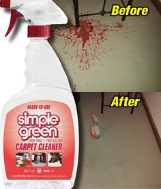 Cleaning Juice Off The Carpet With Simple Green