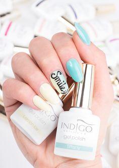 by Paulina Walaszczyk Indigo Educator! Follow us on Pinterest. Find more inspiration at www.indigo-nails.com #nailart #nails #indigo #ombre #happy